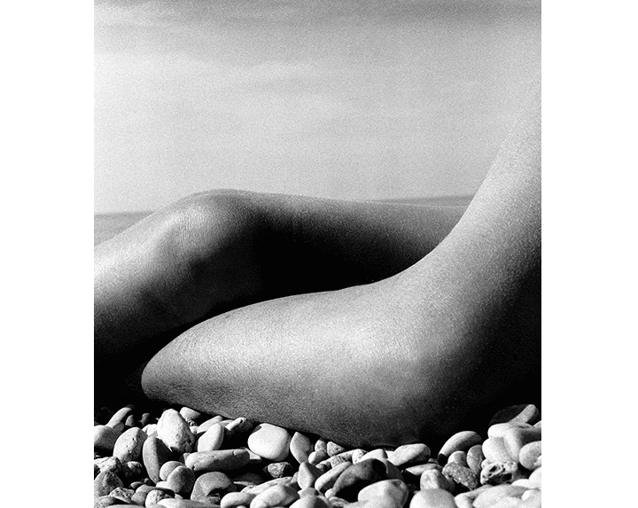 Bill Brandt Desnudo, Baie de Anges, Francia, 1959