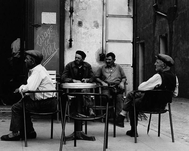 Paul Strand On the Cafe Terrace, Banyuls, Pyrenees-Orientales, France