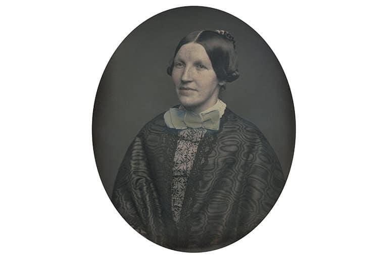 Autoría desconocida. Retrato de una mujer, ca. 1852-1854